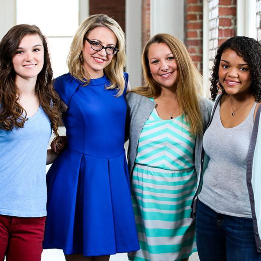 Christie Garton and girls